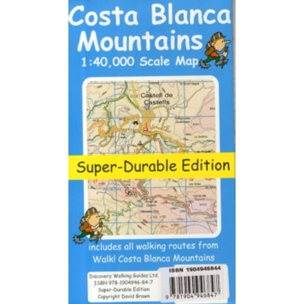 Costa Blanca Mountains Tour & Trail Super-durable Map