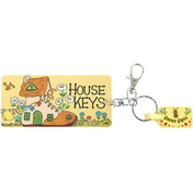 Pack of 6 House Key Rings