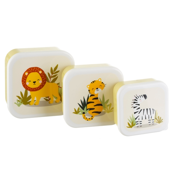 Sass & Belle Savannah Safari Lunch Boxes (Set of 3)