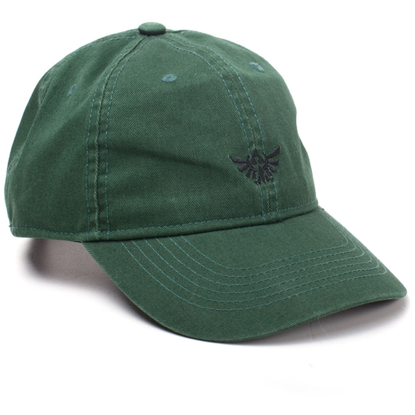 Nintendo - Embroidered Hyrule Crest Unisex One Size Cap - Green