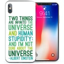 CASEFLEX APPLE IPHONE X ALBERT EINSTEIN QUOTE CASE / COVER (3D)