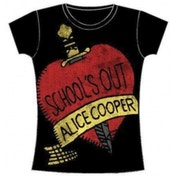Alice Cooper Schools Out Ladies Skinny T Shirt: Small