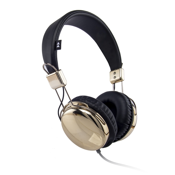 Groov-e FLASH-ON-GDB Flash-On Metallic Headphones - Gold/Black