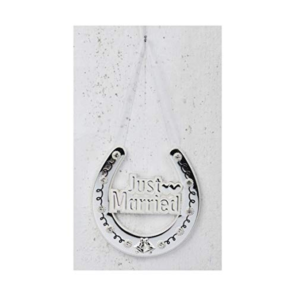 Celebrations Silverplated Horse Shoe - Just Married