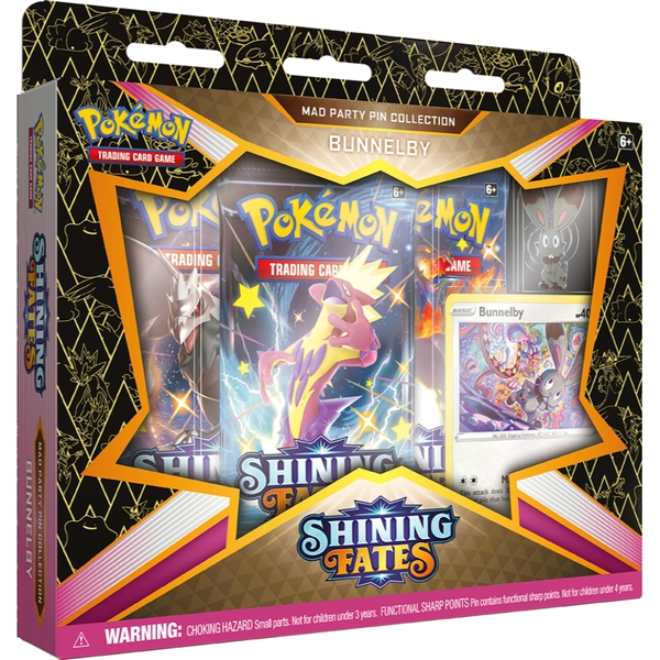 Pokemon TCG: Sword & Shield Shining Fates Mad Party Pin Collection - One At Random