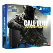 PlayStation 4 D-Chassis (500GB) Black Console With Call of Duty Infinite Warfare Bundle