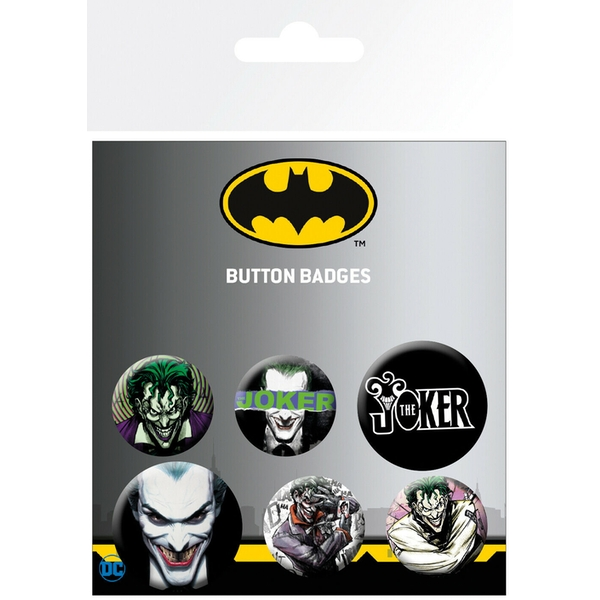 DC Comics Joker Ross Badges (Pack Of 6)
