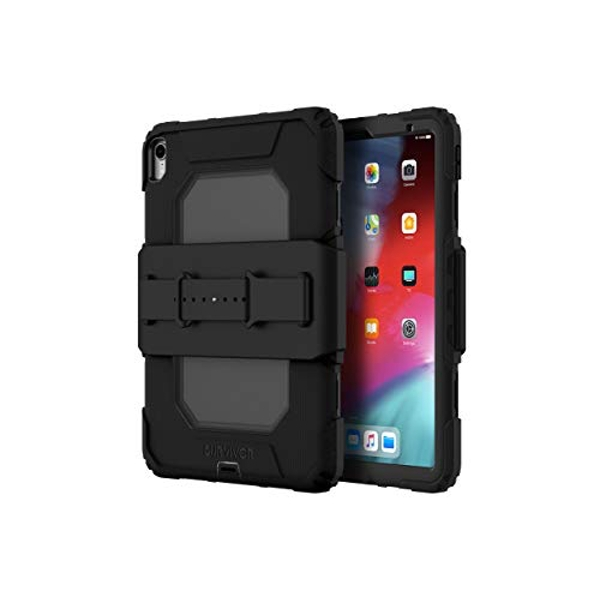 Griffin Survivor All Terrain for iPad Pro 11 (2018) with Hand Strap (Black) GIPD-002-BLK