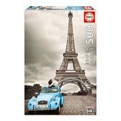 EDUCA France Paris's Eiffel Tower Coloured Black & White 500 Piece Jigsaw Puzzle