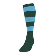 Precision Hooped Football Socks Mens Bottle/Sky