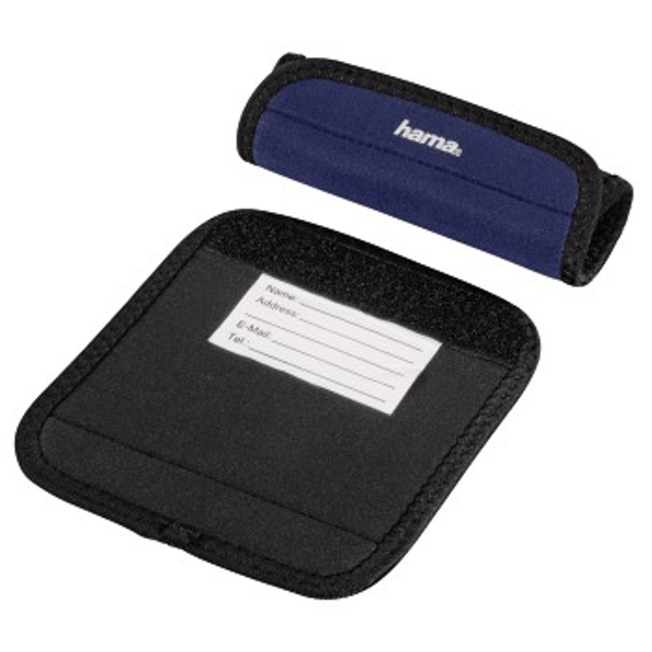 Hama - Luggage Handle Wrap, set of 2, dark-blue - Dark Blue - Neoprene (1 Accessories)