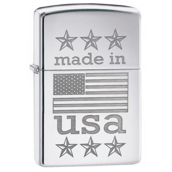 Zippo Made in USA Classic High Polish Chrome