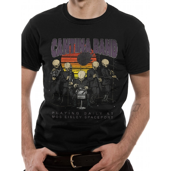 Star Wars - Cantina At Spaceport Men's Small T-Shirt - Black