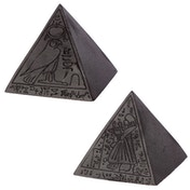 Black Egyptian Pyramid (Pack Of 4) Ornament