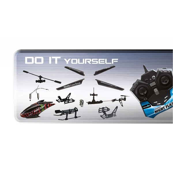 Revell RC Construction Kit Helicopter NIGHT FLASH Technik Radio Controlled Model Kit - Image 4