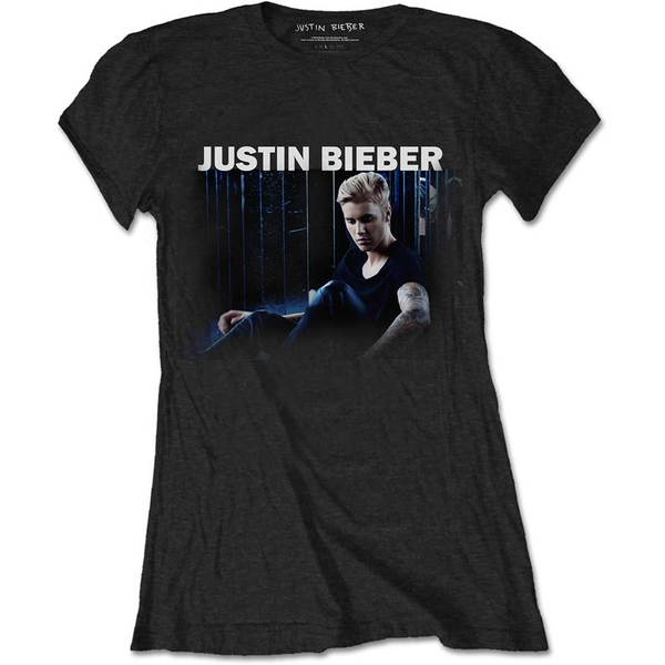 Justin Bieber - Mirror Women's Medium T-Shirt - Black
