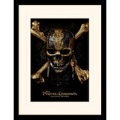 Pirates of the Caribbean - Skull Mounted & Framed 30 x 40cm Print
