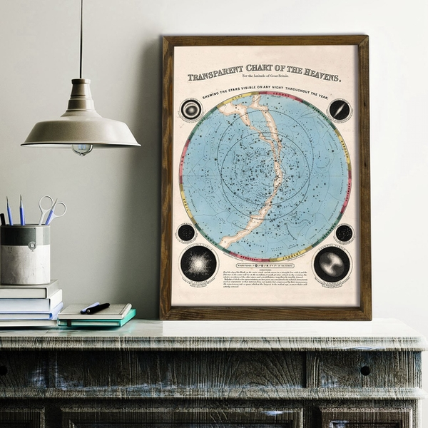 Map010 Multicolor Decorative Framed MDF Painting