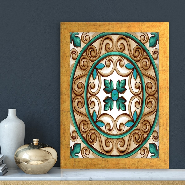 AC4821034121 Multicolor Decorative Framed MDF Painting