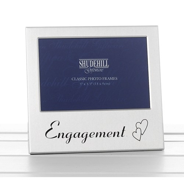 Satin Silver Occasion Frame Engagement 5x3