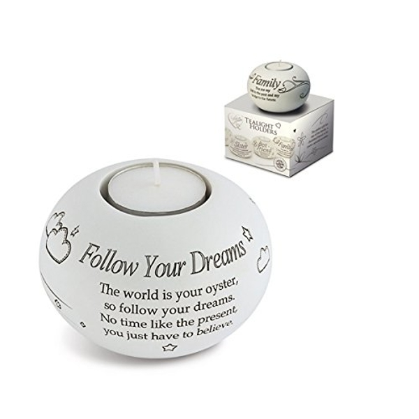 Said with Sentiment Tea Light Holders Follow Your Dreams