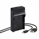 Hama Travel USB Charger for Canon LP-E6