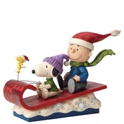 Snow Day (Charlie Brown, Snoopy and Woodstock) Figurine