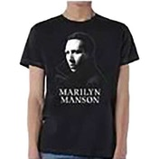 Marilyn Manson - Noir Face Men's X-Large T-Shirt - Black