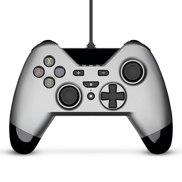 51548000b18a Gioteck WX-4 Wired Controller Silver for Nintendo Switch - 365games ...