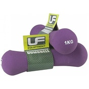 UFE Bone Dumbbells Neoprene Covered 1.0kg Purple