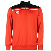 Sondico Precision Quarter Zip Sweatshirt Youth 9-10 (MB) Red/Black