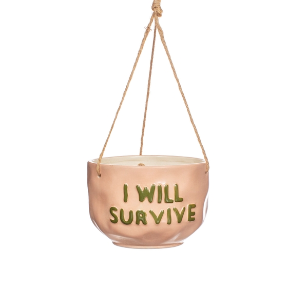 Sass & Belle I Will Survive Hanging Planter