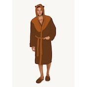 Star Wars Ewok Hooded Adult Fleece Bathrobe