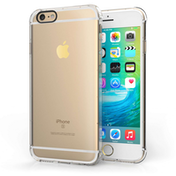 Apple iPhone 6/6S Clear Gel Case with Black Camera Hole