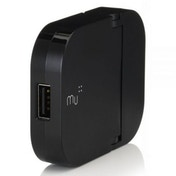 Made in Mind Mu 2.4 A Single USB Port Charger Plug for Smartphones Black