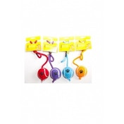 Rosewood Small Tennis Ball On Rope Dog Toy (ORANGE)