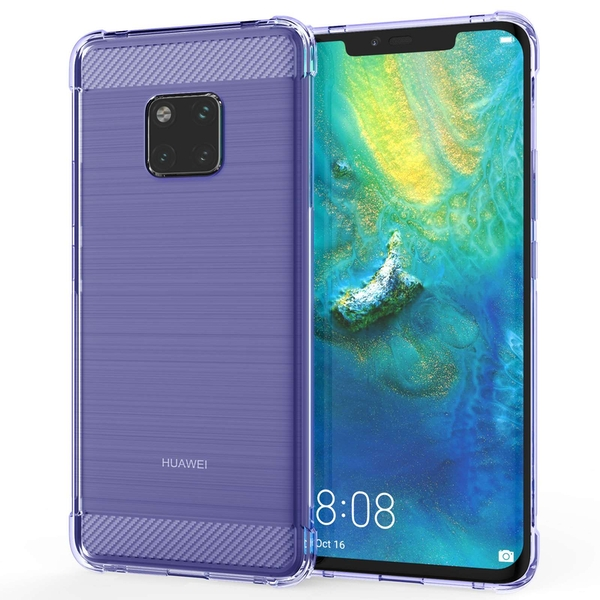 Caseflex Huawei Mate 20 Pro Carbon Fibre Gel Case - Purple