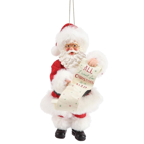 Nap Santa Hanging Ornament