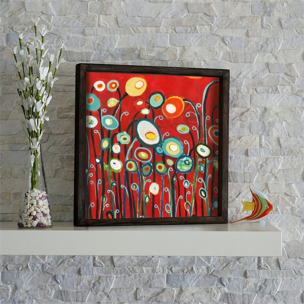 KZM542 Multicolor Decorative Framed MDF Painting