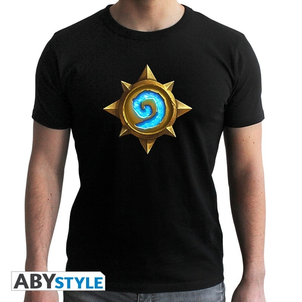 "Hearthstone - ""Rosace"" Mens Small SS T-Shirt - Black - New Fit"