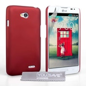 Yousave Accessories LG L70 Hard Hybrid Case - Red