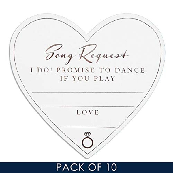 AMORE BY JULIANA? Wedding Table Song Request Cards (Pack 10)