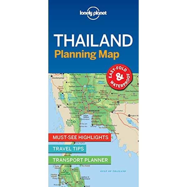 Lonely Planet Thailand Planning Map  Sheet map, folded 2018