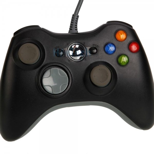 Official Xbox 360 Wired Gamepad Controller Black Xbox 360 - Image 2