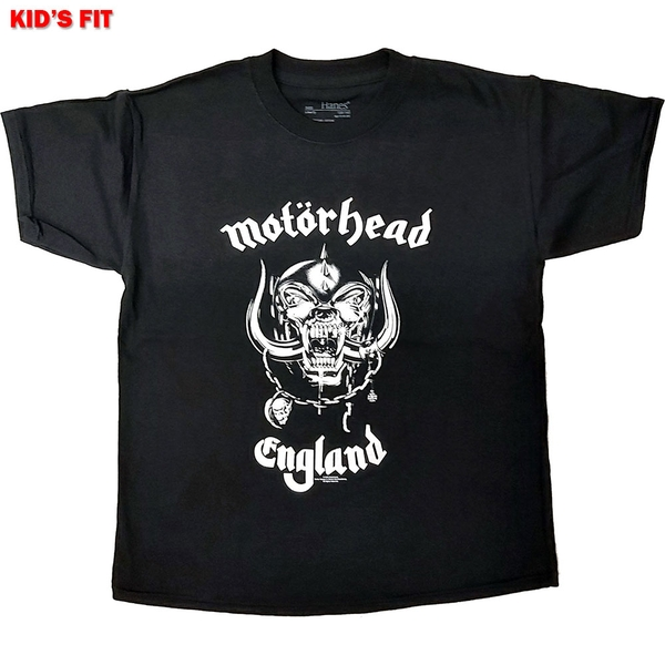Motorhead - England Kids 11 - 12 Years T-Shirt - Black