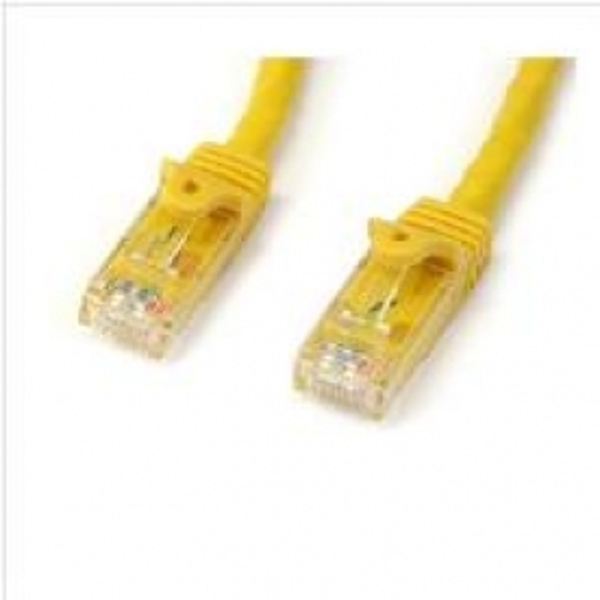 StarTech Yellow Gigabit Snagless RJ45 UTP Cat6 Patch Cable Patch Cord 3m