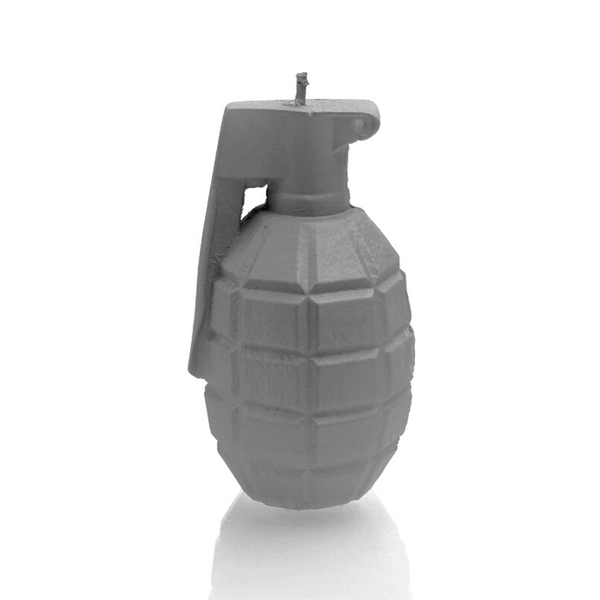 Gray Matt Large Grenade Candle