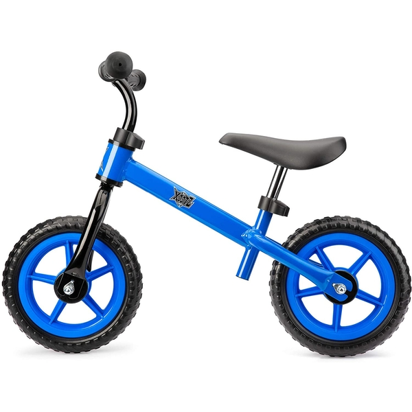 Xootz Balance Bike for Toddlers and Kids Training Bicycle with Adjustable Seat and No Pedals Blue