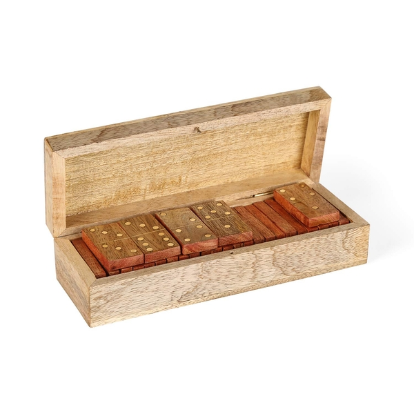 Penguin Home Wooden box with Dominoes