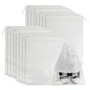 Travel Shoe Bags - Set of 18 | Pukkr White